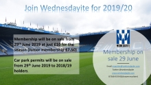 Join Our Team For Reminder of 2018/19 for only £5