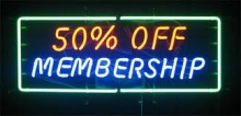 Half Season membership and car park permits now available at half price!